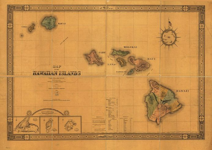 It's just a photo of Printable Map of Hawaiian Islands with regard to easy